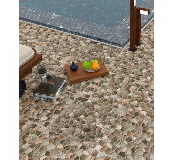 Pavimento per esterni 45x45 Quechua Natural in Gres Porcellanato