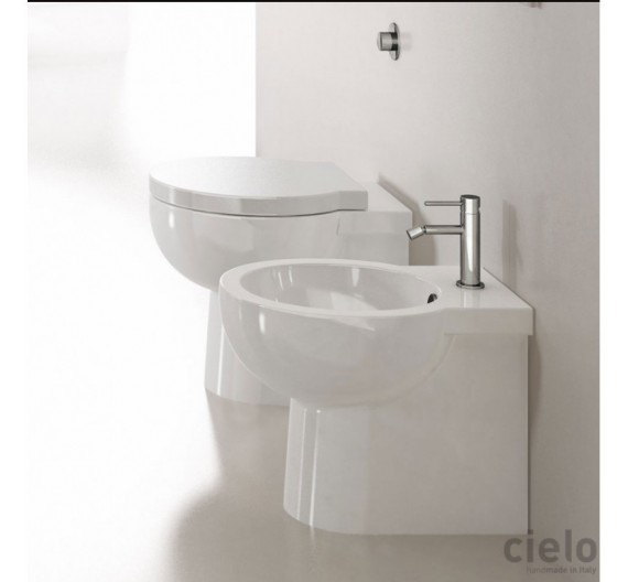Bidet Filomuro mod Easy Bath Ceramica Cielo in porcellana bianca