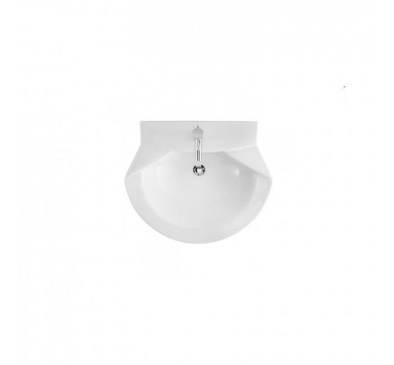 Lavabo Jade Sanindusa cm 68 BIanco per colonna sospesa o a pavimento