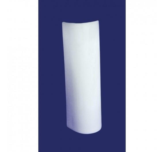 Colonna a pavimento per lavabo mod Cristina in porcellana bianca