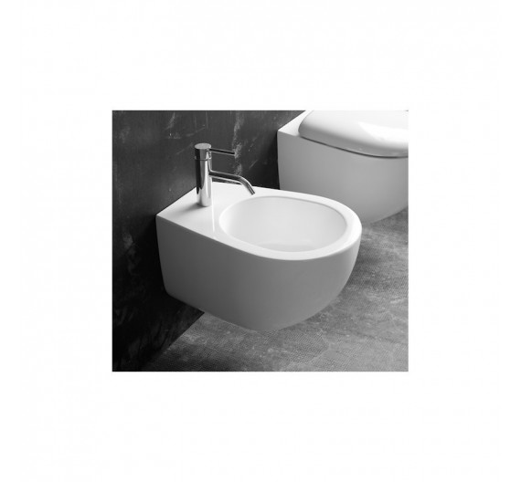 Bidet sospeso mod Fly Althea in porcellana bianca