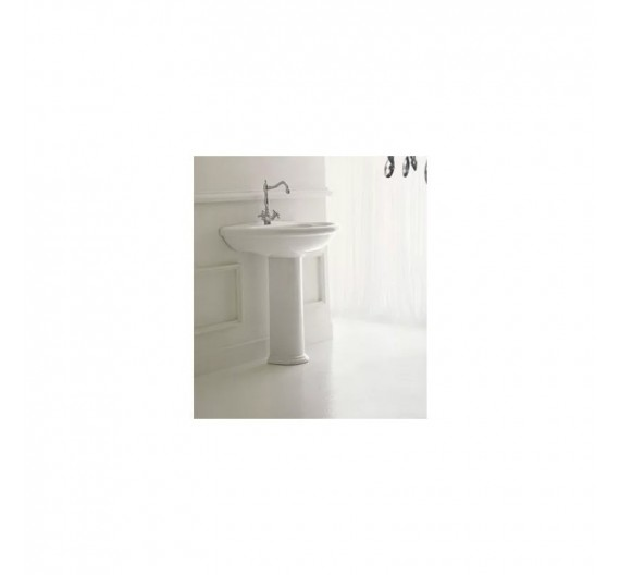 Colonna a pavimento per lavabo Marion Althea ceramica in porcellana bianca