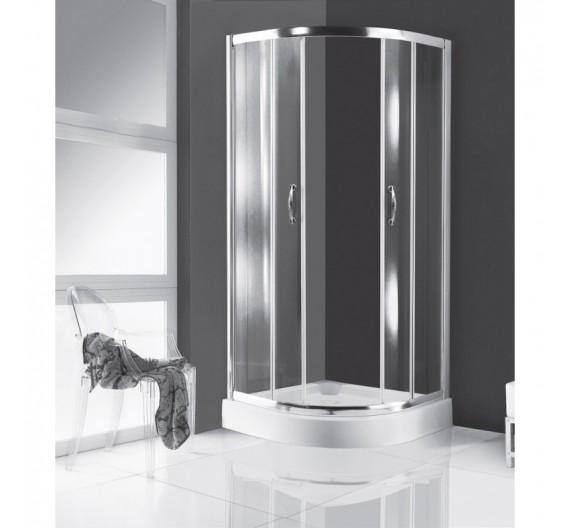 Box doccia 100x100 cm in cristallo semicircolare scorrevole 4mm