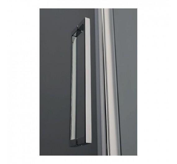Porta doccia Lux in cristallo  90 cm  fisso più battente  8mm con profilo acciaio cromo