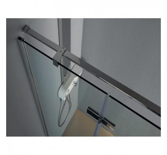 Porta doccia Infinity 100 cm in cristallo ad ante battenti 8mm con profilo cromo