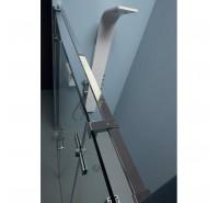 Porta doccia Infinity 180 cm in cristallo ad ante battenti 8mm con profilo cromo