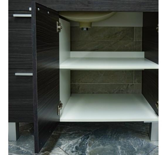 Mobile bagno a terra incluso di lavabo e specchio 80 cm Antracite Moderno
