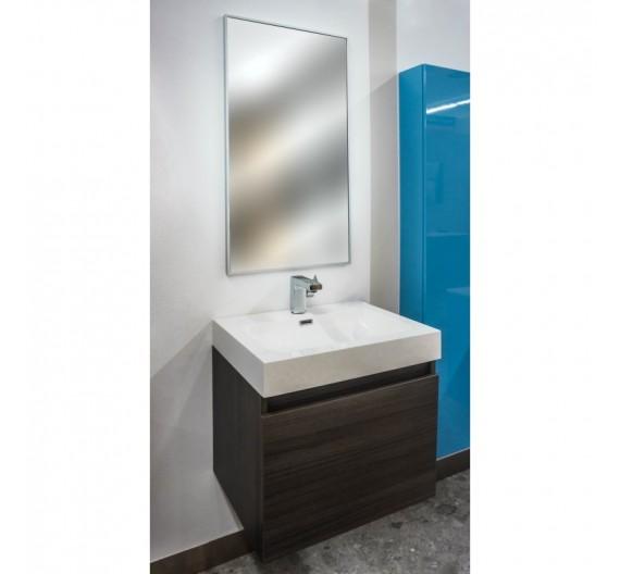 Mobile bagno Sospeso 60cm Rovere composta da mobile bagno lavabone e specchio
