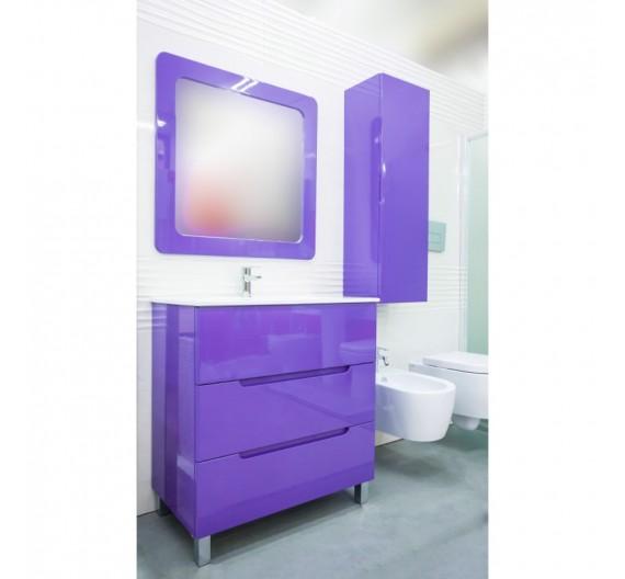 Mobile bagno Cabo Violetta 80 cm con lavabo in porcellana e specchio