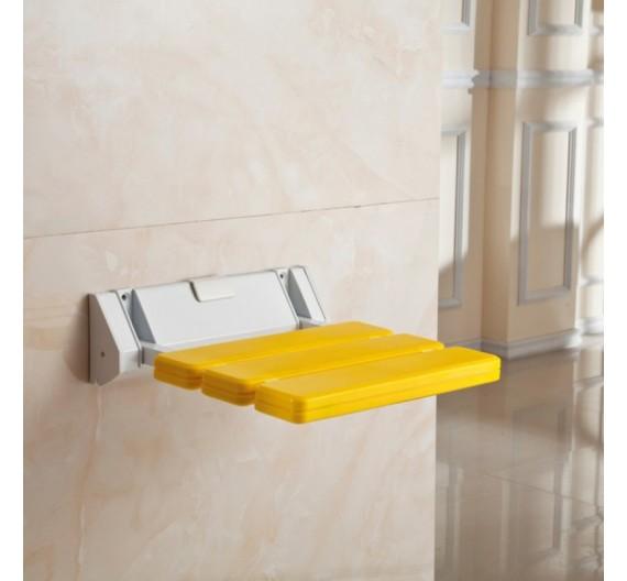 Sedile doccia giallo ribaltabile per anziani e disabili