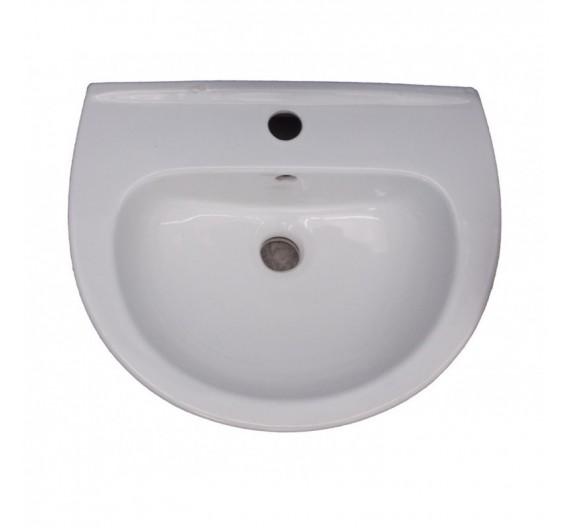 Lavabo da 45 cm mod universale in porcellana bianca