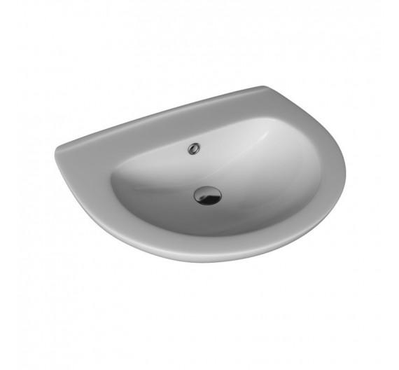 Lavabo rotondo mod Universale in porcellana Bianca 50 cm