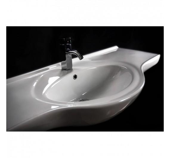 Lavabone Tuttopiano 120 cm circolare bianco porcellana