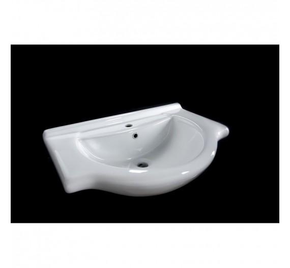 Lavabone Tuttopiano 75 cm circolare bianco porcellana