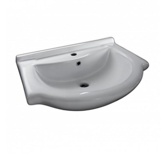 Lavabone Tuttopiano 65 cm circolare bianco porcellana