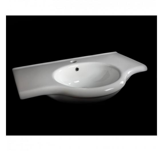 Lavabone da arredo 85 cm Fly Hola rettangolare  ceramica bianco lucido sanitari