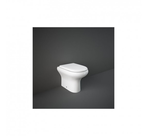 Vaso Rak compact 51x37 cm filo Muro  WC bianco