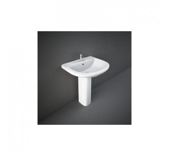 Lavabo Rak-Orient 65 cm in Porcellana Sanitari Bianco Alpino