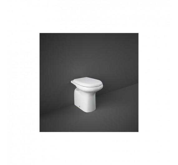 Vaso Rak-Orient Filo Muro 56x38 cm  WC in porcellana Bianco Alpino scarico Parete