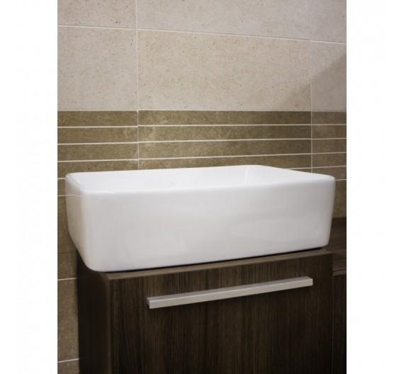 Lavabo da appoggio  47 x 38  cm ceramica sanitari bagni moderni rettangolare