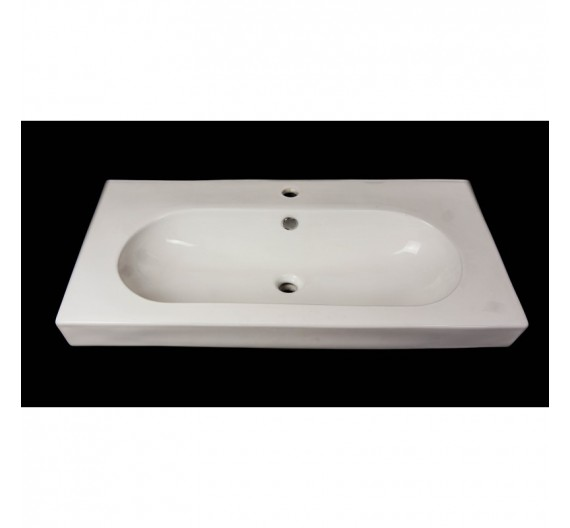 Lavabone da arredo 94 x 48 rettangolare ceramica bianco sanitari TR40041-920