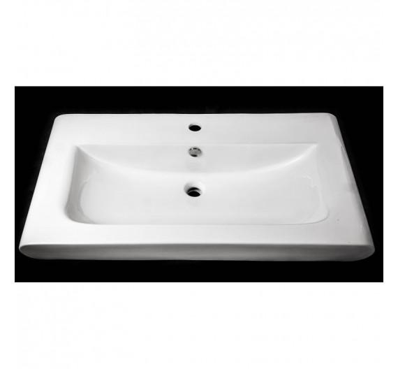 Lavabone da arredo 93 x 49 rettangolare ceramica bianco sanitari