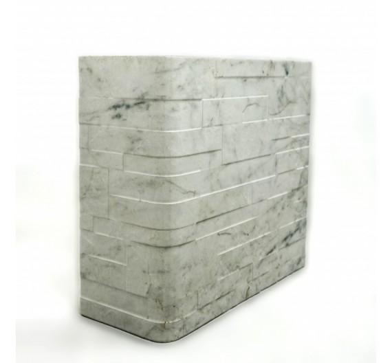 Piastrella terminale angolo Granito Carrara 31x62 cm effetto pietra in gres porcellanato