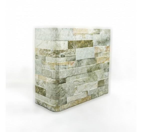 Piastrella terminale angolo Granito Grigio 31x62 cm effetto pietra in gres porcellanato