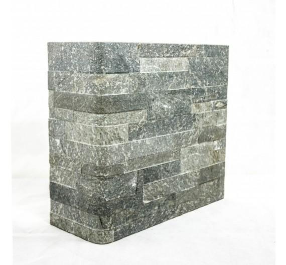 Piastrella terminale angolo Granito Nero 31x62 cm effetto pietra in gres porcellanato
