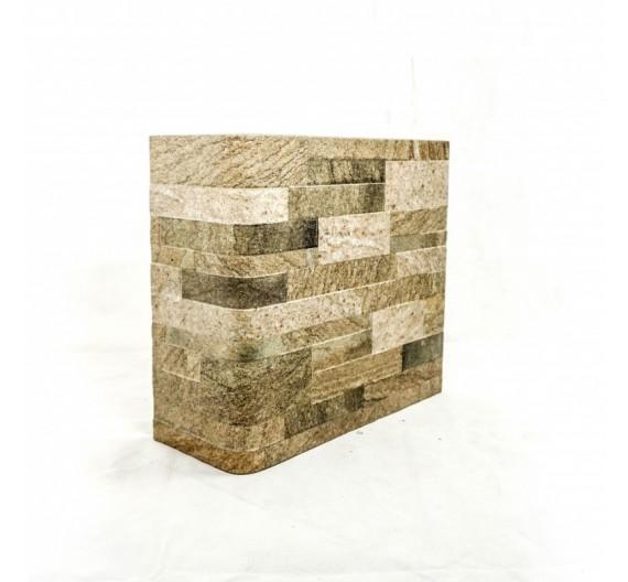 Piastrella terminale angolo Granito Marrone 31x62 cm effetto pietra in gres porcellanato