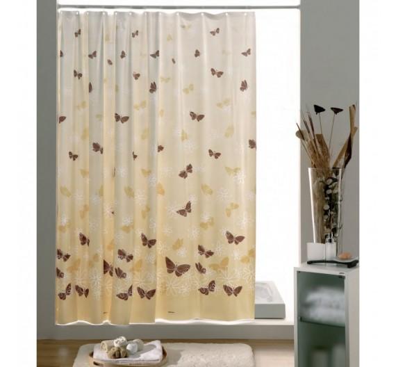 Tenda Doccia 180 x 200 Vinile Gedy Butterfly Beige