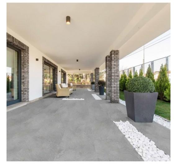 Pavimento per esterni e interni 35.5 x 71 cm Sedona Grey Gres  Porcellanato effetto Pietra