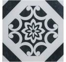 Pavimento per interni 32,5 x 32,5 cm Art Decor White Noir Gres Porcellanato Smaltato Opaco
