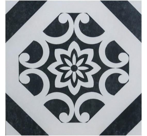Pavimento per interni 32,5 x 32,5 cm Art Decor White Noir Gres Porcellanato Smaltato Opaco