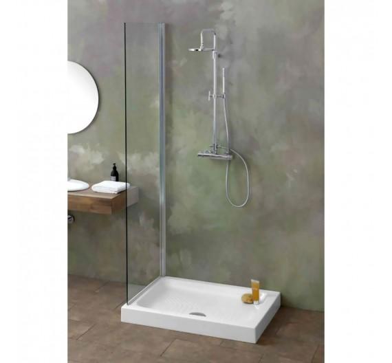 Piatto doccia 80x100 H10 Porcellana  Bianco