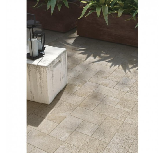 Pavimento per Esterni 30x60 Stoneway Porfido Ivory Gres Porcellanato effetto pietra