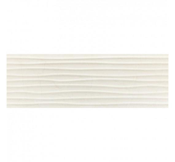 Rivestimento per interno 30 x 90 Wellen Velvet Pearl in gres porcellanato rettificato