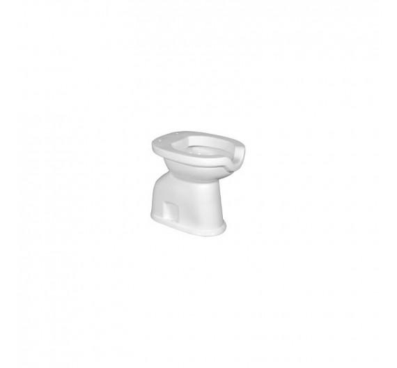 Vaso per disabili scarico terra in porcella bianca con apertura frontale modello Vadisc