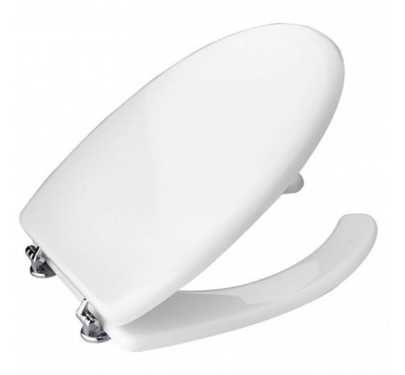 Coprivaso per disabili termoindurente bianco con apertura fronatel