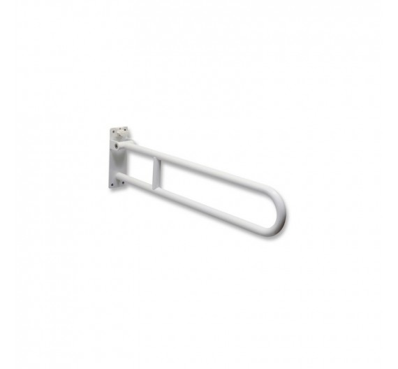 Barra di sicurezza 60 cm ribaltabile per disabili acciaio bianco