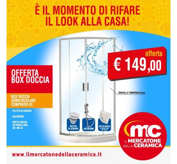 Offerta Box Doccia Premium  Piatto doccia Piletta e Saliscendi Tutto Incluso