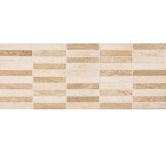 Rivestimento per interni 20 x 50 Grace Mosaico Beige smaltato lucida