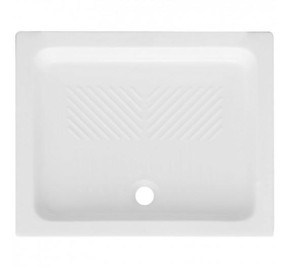 Piatto doccia 72x90 in porcellana bianca altezza 10 cm