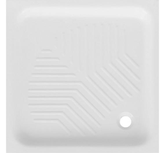 Piatto doccia 80x80 in porcellana bianca altezza 10 cm