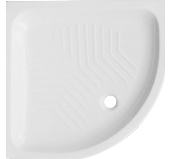 Piatto doccia 80x80 semicircolare in porcellana bianca altezza 10 cm