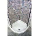 Piatto doccia 90x90 semicircolare in porcellana altezza 11 cm
