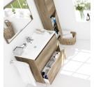 Mobile bagno a terra incluso di lavabo  2 cassetti 80 cm Dakota Nordik