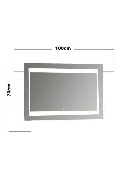 Specchio Bagno Led 100.Specchio In Vetro Retroilluminato A Led Forma Rettangolare 70 X